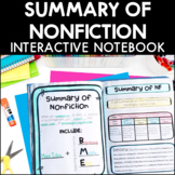 Summary of Nonfiction - Reading Interactive Notebook | Dis