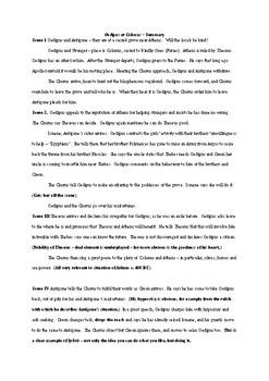 Summary of Oedipus at Colonus