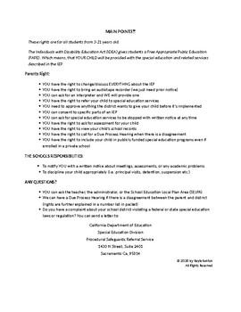 Summary of Procedual Safeguards