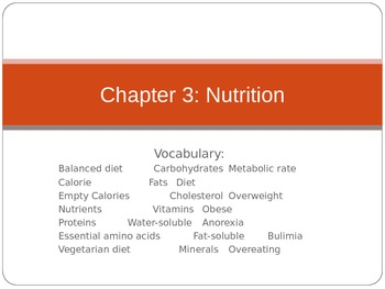 Summary of Total Health Chapter 3 Powerpoint Presentation