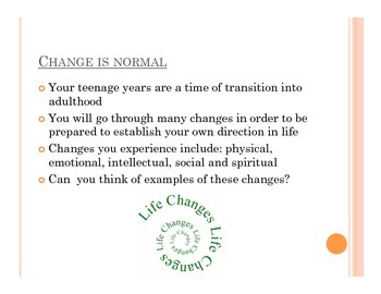 Summary of Total Health Chapter 6 Powerpoint Presentation