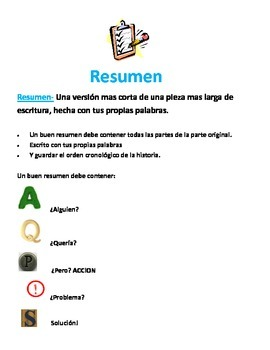 Summary poster in spanish
