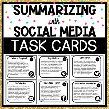Summarizing with Social Media Task Cards