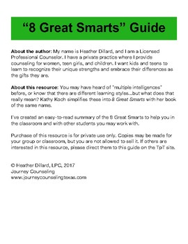 """""""8 Great Smarts"""" Guide"""