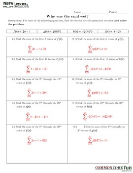 Summation Notation with Arithmetic and Geometric Series v2