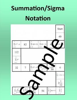 Summation/Sigma Notation – Math puzzle