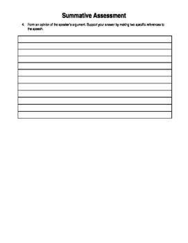 Summative Assessment/Test - ELA Common Core SL 9-10.3 - Editable
