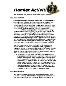 Summative Assessment for Hamlet