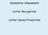 Summative Assessment on Letter Knowledge