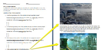 Summative, Formative & Performace Assessments for Descriptive Writing