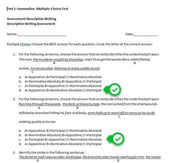 Summative, Formative & Performace Assessments for Descript