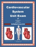 Circulatory System & Heart Unit Exam or Summative Study Guide