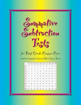 Summative Subtraction Quizzes