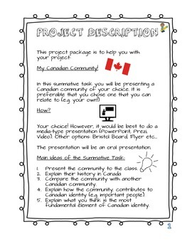Summative Task Social Studies Heritage and Citizenship Canadian Community