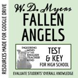 Fallen Angels by Walter Dean Myers - Test & Key