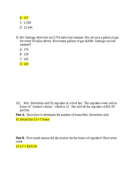 Summative for NBT.2.5 and NBT.2.6 ANSWER KEY