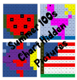 Summer 100s Chart Hidden Mystery Pictures Color By Number