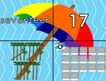 Summer 11-20 Numbers Match Puzzle Card Game
