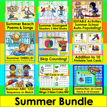 Summer School Activities for Primary BUNDLE - Save $5.00! End of the Year