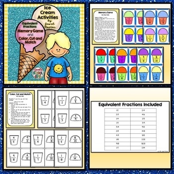 Summer Activities BUNDLE (Summer Fraction Game and Summer Writing Prompts)