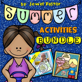 Summer Fraction Math Activities and Summer Writing Prompts BUNDLE