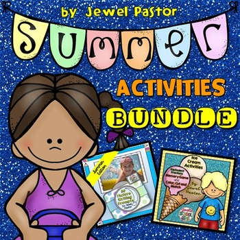 Summer Activities BUNDLE (Fraction Game and Writing Prompts)