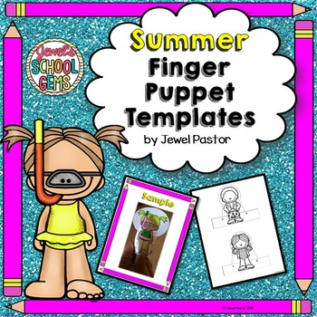 Summer Crafts Activities (Finger Puppets)