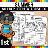 Summer Literacy Activities (1st Grade)