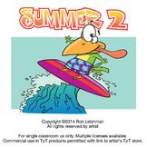 Summer Cartoon Clipart Vol. 2