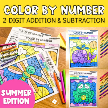 Double Digit Addition With Regrouping Color By Number ...