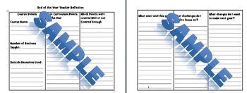 Reduced - Summer 2017 Science Teacher Reflection Curriculum Planner and Calendar