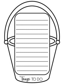 Summer Bucket List Flip Book End of the Year Writing Craftivity