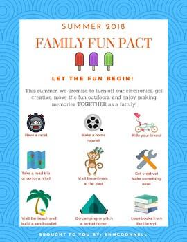 Summer 2018 Family Fun Pact