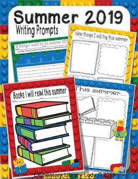 Summer 2018 Writing Prompts What I Did... LEGO Like