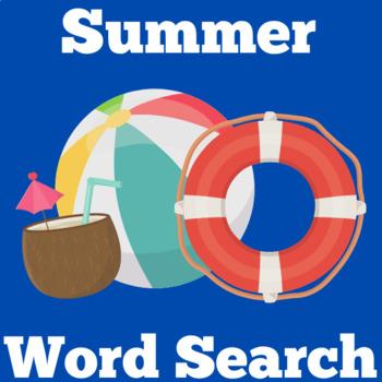 Summer Worksheet | Summer Word Search | Summer Wordsearch