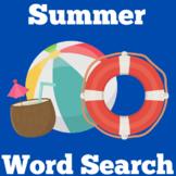 Summer Worksheet Word Search