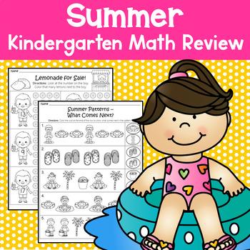Summer Packet - Math Review (Kindergarten)