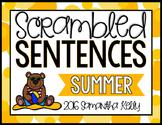 Summer Scrambled Sentence Station