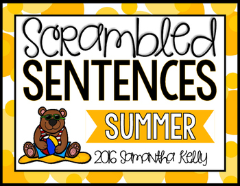 Summer Scrambled Sentence Station