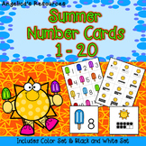 End of the Year Activities: Summer Number Cards