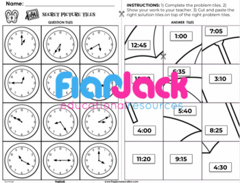Summer 2nd-3rd Math Skills Worksheets | Secret Picture Tiles