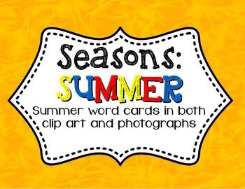 Summer 3-Part Montessori / Vocabulary Cards