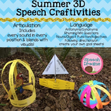 Summer 3D Speech Therapy Crafts {articulation language craftivities}