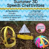 Summer 3D Speech Therapy Crafts {articulation language cra
