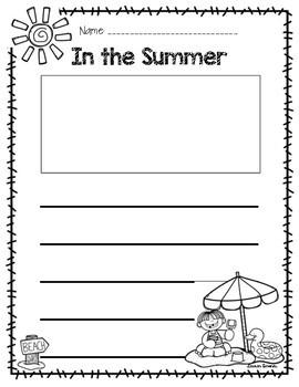 Summer 5 Senses Writing