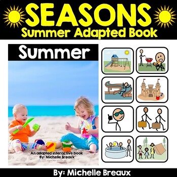 Summer--A Seasonal Adapted Interactive Book With Real Pictures (SPED, Autism)