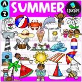 Summer A to Z Clip Art Set {Educlips Clipart}