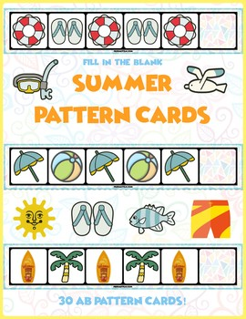 Summer AB Pattern Cards | 30 Cards