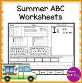 Summer ABC Letter Formation and Identification Worksheets