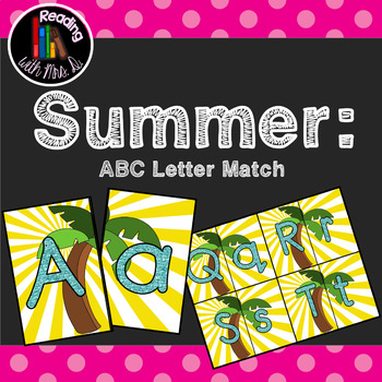 Summer ABC Letter Match Game